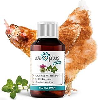 Ida Plus – MiLB & Weg – Ergänzungsfuttermittel mit natürlichen Pflanzenextrakten – besonders gut für Hühner, Puten, Gänse, Enten & anderes Geflügel – Schluss mit Lästlingen – 1:1000 Konzentrat