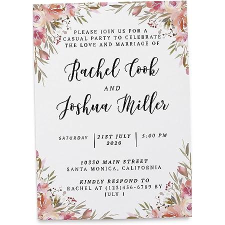 Loveateverysight Tarjetas De Invitación De Matrimonio 20 Unidades Health Personal Care