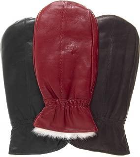 Women's Rabbit Fur Leather Mittens