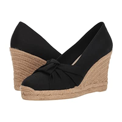 Soludos Knotted Pump Wedge (Black) Women