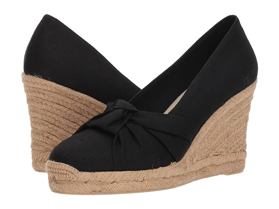 Soludos Knotted Pump Wedge (Black) Women's Shoes