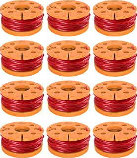 """GARDENOK WA0010 Grass Trimmer Spool Line .065"""" 10ft, Replacement Auto Feed Spool for Worx String Trimmers (12pack)"""
