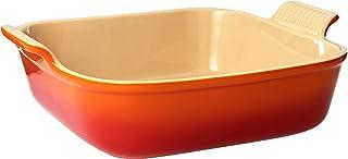 "Le Creuset Stoneware Heritage Square Dish, 3 qt. (9""), Flame"