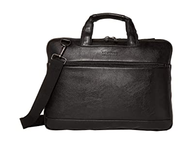 Kenneth Cole Reaction 16 Pebbled Leather Slim Dual Compartment Laptop Tablet Business Case Bag (Black) Luggage