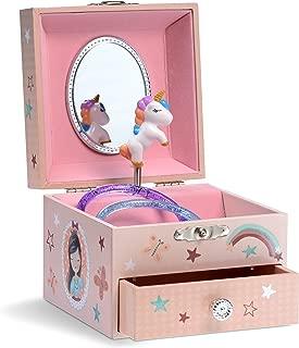 Jewelkeeper Musical Unicorn Jewelry Box, Rainbow Design with Pullout Drawer, The Unicorn Tune