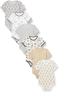 Care Body de algodón de Manga Corta Unisex bebé, Pack de 6