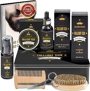 Ultimate Beard Grooming & Growth Kit Gifts for Men/Dad/Husband/Him in Metal Gift Box with Beard Shampoo,Beard Oil Conditioner,Beard Balm,Beard Brush,Comb,Mustache Scissors
