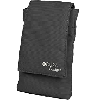 DURAGADGET Black Nylon Cushioned Case Pouch (Radio NOT Included) - Compatible with Sony XDR-P1DBP Pocket DAB & DAB-Plus Radio
