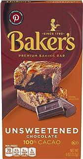 Baker's Premium Unsweetened Chocolate Baking Bar (4 oz Box)