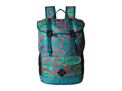 Burton Kids Outing Backpack (Youth) (Green/Blue Slate Morse Geo Print) Backpack Bags