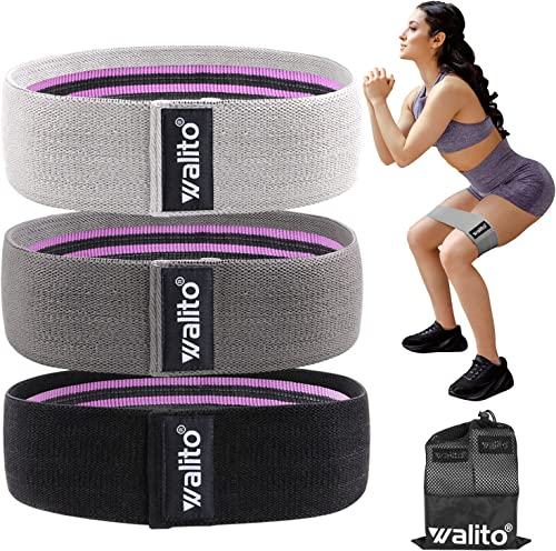 Walito Resistance Bands for Legs and Butt - Exercise Bands Set Booty Hip Bands Wide Workout Bands Sports Fitness Band...