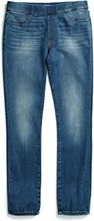 Tommy Hilfiger Adaptive Women's Jegging Jeans with Adjustable Hems and Elastic Waist, Medium wash