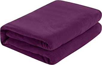 Fleece Extra Soft Cozy Velvet Plush Flat Sheet Brushed Microfiber Deluxe Bed Sheets (Violet, 55x86 in)