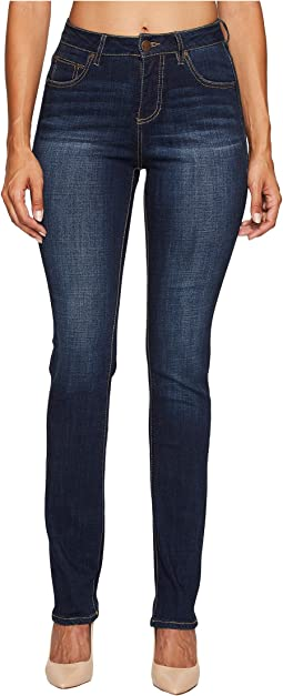 Jag Jeans - Laredo High-Rise Straight Crosshatch Denim in Night Breeze