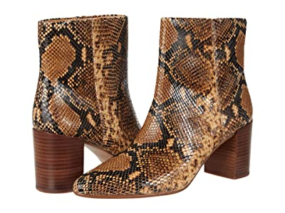 Madewell Nelly Pointy Toe Bootie (Wood Ash Multi Snake) Women