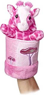 "Aurora World Pop-Up Pink Giraffe Puppet Plush, 11"" Tall"