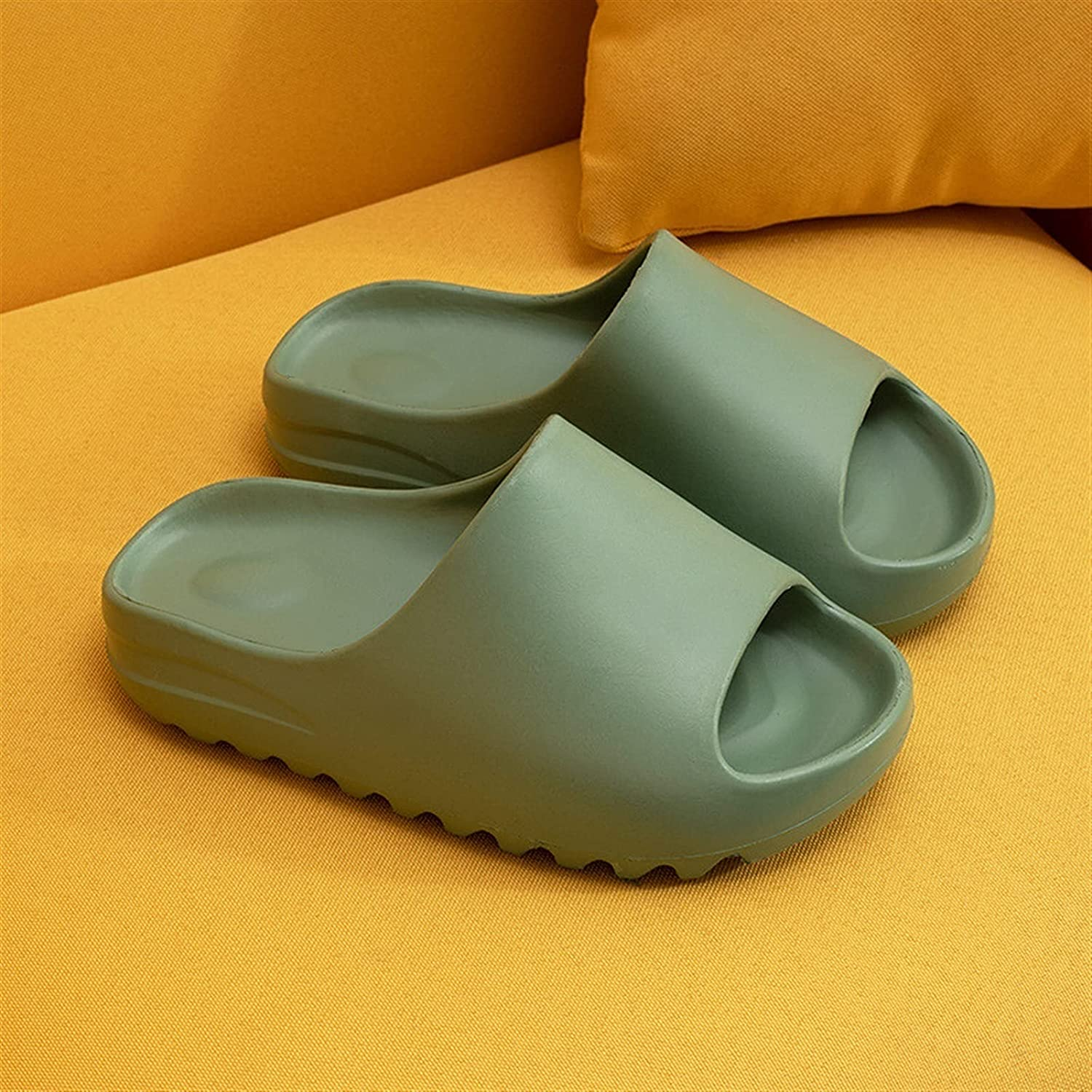zyxzly Open Toe Pillow Slides for Women and Men-Non-Slip EVA Bath Slippers Flip Flop Open Toe Soft Sandals Casual House Sandals for Indoor & Outdoor Thick Sole Home Floor Slipper,EVA Platform