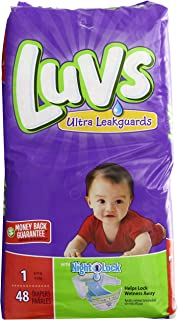 Luvs with Ultra Leak Guards Diapers, Size 1, 48 Count