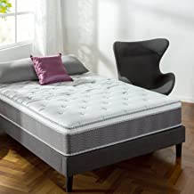 Zinus 12 Inch Support Plus Pocket Spring Hybrid Mattress with Euro Top / Extra Firm Feel / More Coils for Durable Support / Pocket Innersprings for Motion Isolation / Bed-in-a-Box, Queen