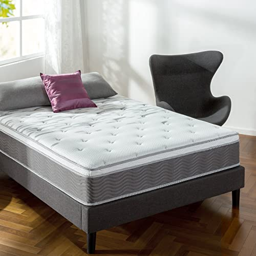 Zinus Extra Firm iCoil 12 Inch Support Plus Mattress, Queen