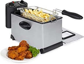 Best Choice Products 6-Piece 1700W 3L Stainless Steel Electric Deep Fryer w/Adjustable Temperature, Timer Control, Indicator Lights, Removable Basket, Lid, Viewing Window, Black