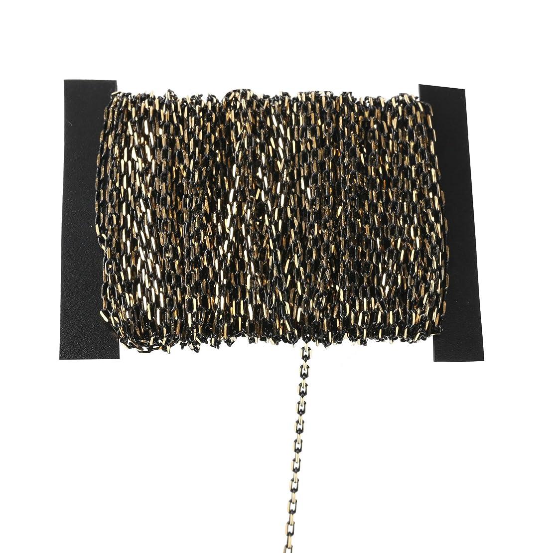 合わせてリテラシー株式会社10M銅ブラックダブルカラークロスチェーン - 2x4mmケーブルリンクチェーンDIY手作りジュエリーブレスレット鎖骨ネックレスのアクセサリーを作る