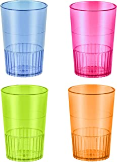 Zappy 48 1.5 oz Straight Wall Shooter Hard Disposable Plastic Shot Glasses Party Bar Glasses Wedding Cups Wine Glass Cocktail Champagne Martini Neon Party Cups Colored Drinking Glasses Shooter Glass