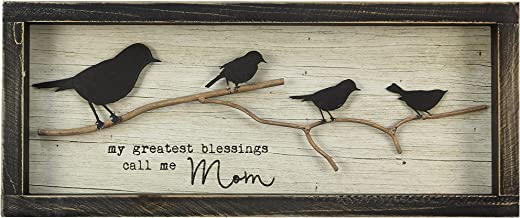 "Young's 15.5"" x 1.5"" x 6.5"" Inc Wood Greatest Blessing Bird Sign"