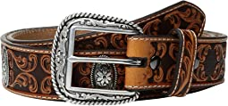 Fancy Scroll Embossed Belt