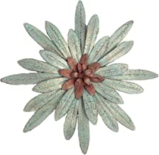 Hobbies, Gifts N More Turquoise Metal Flower Decor with Hanging Kit, Inspirational Wall Decor for Your Home, Office, Outdoor, Garden 14 3/4
