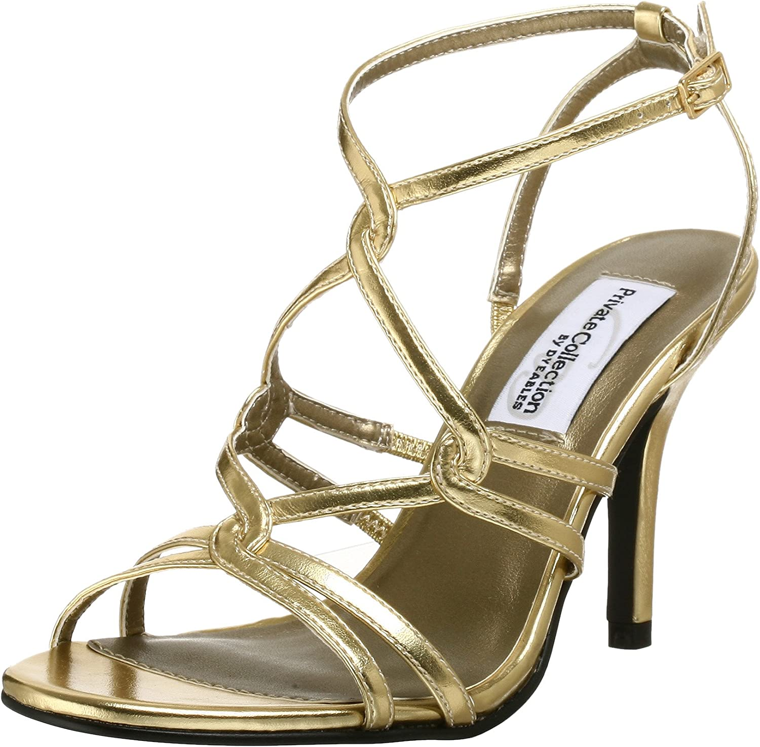 Dyeables Women's Runway Sandal gold Metallic