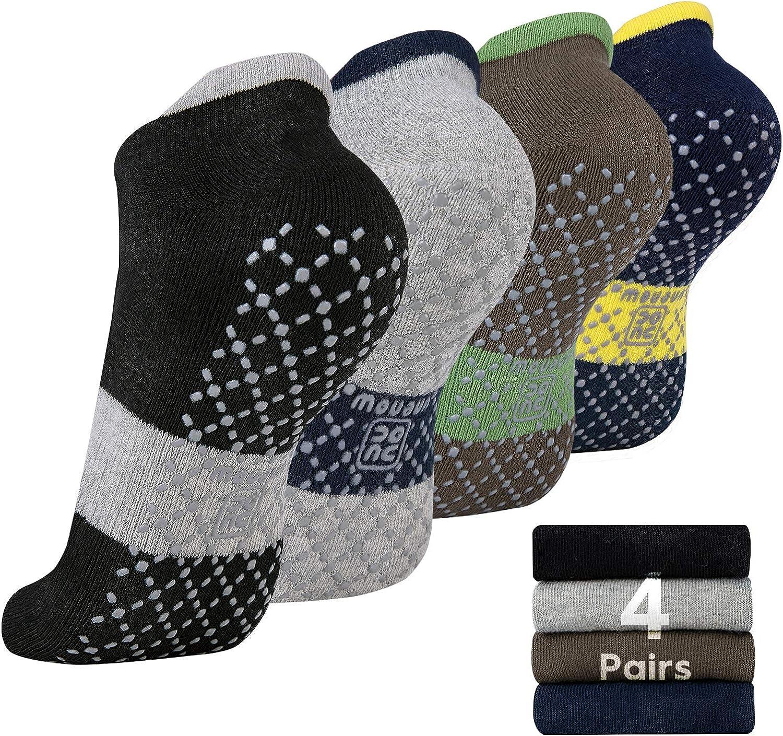 unenow Unisex Non Slip Grip Socks with for Popularity Cushion Pilates Yoga Long-awaited