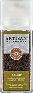 SaltWorks Salish Alderwood Smoked Sea Salt, Coarse, Grinder, 5.5 Ounce