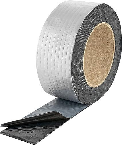 Poppstar Ruban D Etancheite Butyle Pour Toiture 5 M X 50 Mm X 1 5 Mm Bande De Solin Extremement Adhesive A Froid Revetement Aluminium Amazon Fr Bricolage