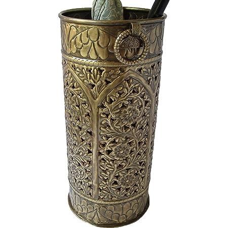 Excellent Accents Solid Brass Umbrella Stand Octagon Mediterranean
