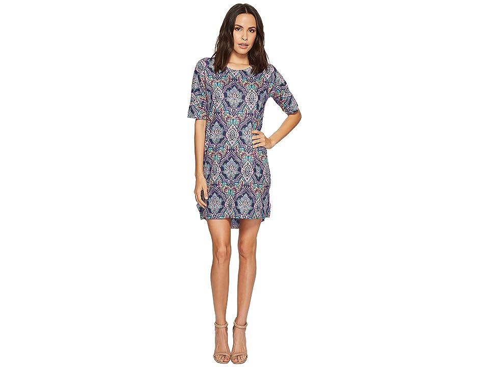 Nally & Millie Paisley Sweater Dress (Multi) Women