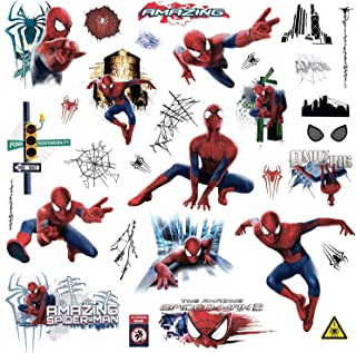 Marvel Superhero Comic - Amazing Spider-Man Wall Decal - Pre-cut Peel and Stick Sticker Decor Party Decaration
