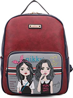 Nikky Frances Printed Leather Backpack -Character Women Fashion School Backpacks