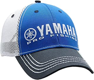 Yamaha New OEM Pro Fishing Mesh Hat, Blue w/Black Bill, CRP-16HPF-BK-NS