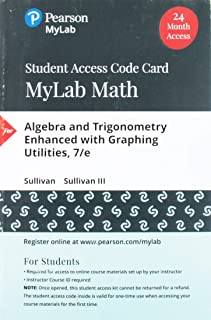 MyLab Math with Pearson eText -- Standalone Access Card -- for Algebra and Trigonometry Enhanced with Graphing Utilities