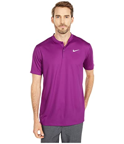 Nike Golf Dri-FITtm Victory Blade Polo (Bright Grape/White) Men