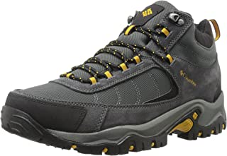 Columbia Mens Granite Ridge MID Waterproof Wide Hiking Shoe Dark Grey, Golden Yellow 16 2E