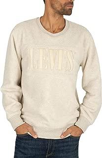 Levi's Men's Fleece Sweatshirt, White
