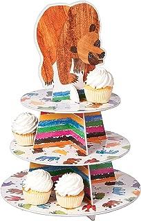 Fun Express - Brown Bear Cupcake Holder for Birthday - Party Supplies - Serveware & Barware - Misc Serveware & Barware - Birthday - 1 Piece
