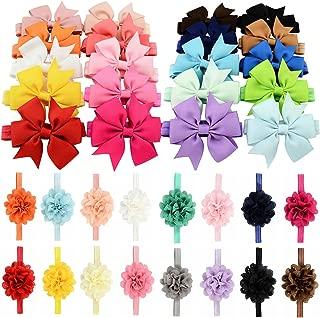 Meihet No/ël b/éb/é bandeau Casual mignon bande de cheveux solides d/écoration Accessoires de cheveux pour les filles enfants tout-petit nouveau-n/é