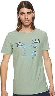 Jack & Jones Men's Jordeepsurf SS Crew Neck T-Shirt, in Green Bay, Size: Medium