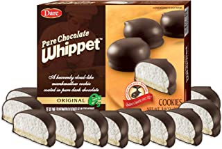 Dare Whippet Cookies, Original, Pack of 12 Boxes (14 Cookies Per Box) – Made with Real Chocolate, Heavenly Marshmallow Center, 100% Peanut Free, 12 - 8.8 oz Boxes