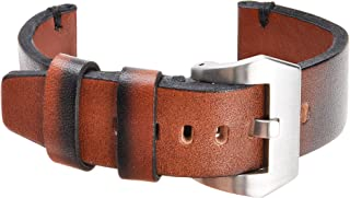 Gradient Colors Genuine Leather Watch Bands 20mm 22mm Replacement Strap with Stainless Steel Buckle