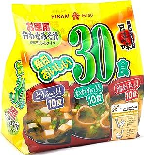 HIKARI Instant Miso Soup, Variety 30 Servings (10 Tofu, 10 fried tofu, 10 Wakame) (Pk of 1)