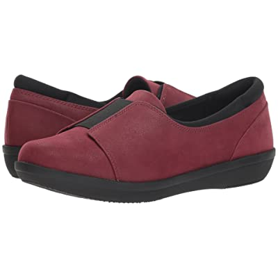 Clarks Ayla Band (Burgundy Synthetic Nubuck) Women